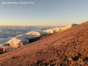 Southern Icefields im Sonnenaufgang, Kilimanjaro, Tanzania