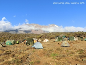 Shira Camp (3.845 m) vor dem Kibo, Kilimanjaro, Tanzania